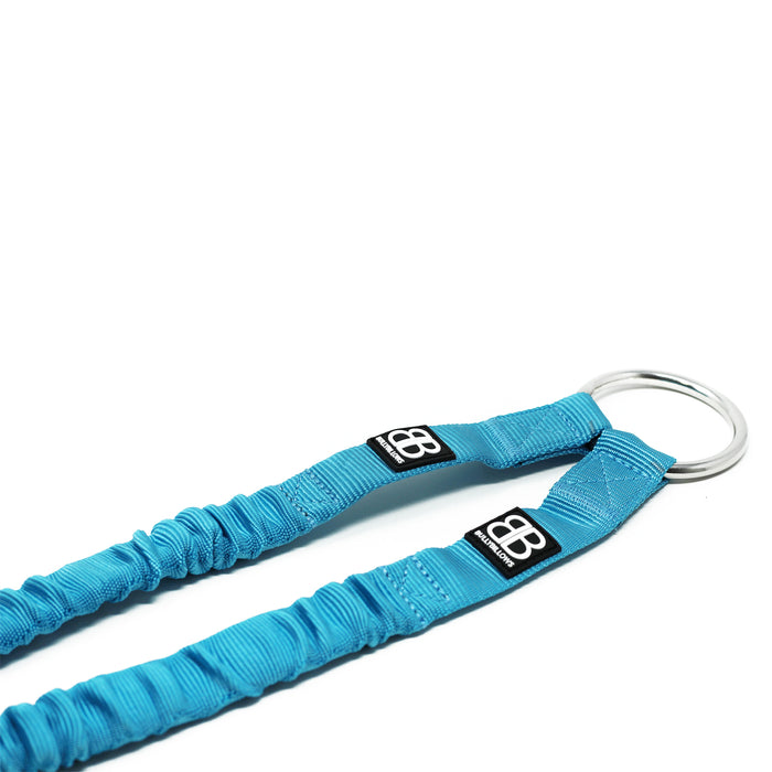 Zero Shock Bungee Dog Lead - Light Blue