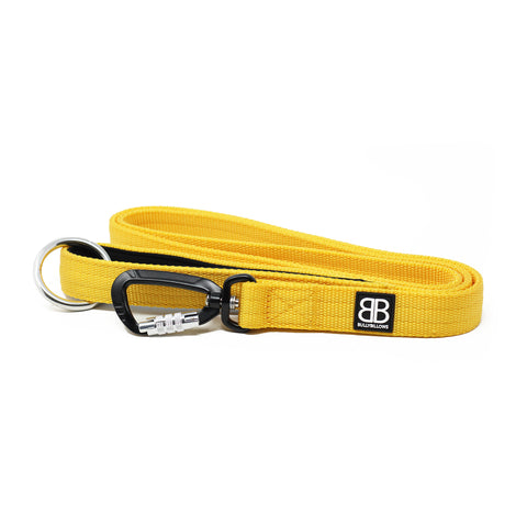 Nylon Sporting Dog Lead - Mustard Yellow