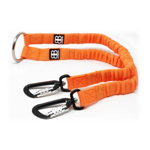Zero Shock Bungee Dog Lead - Orange