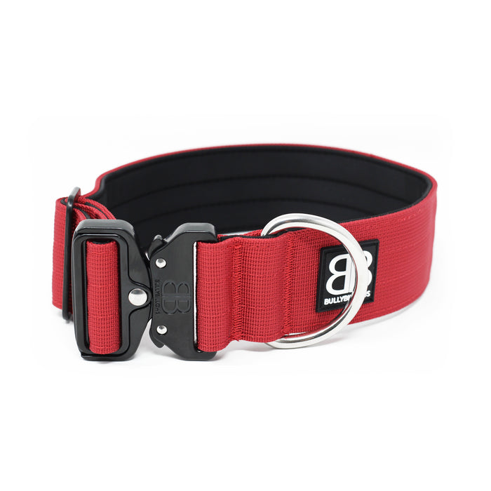 5cm Combat Collar - NO HANDLE - Burgundy v2.0