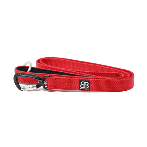 Nylon Sporting Dog Lead - Red