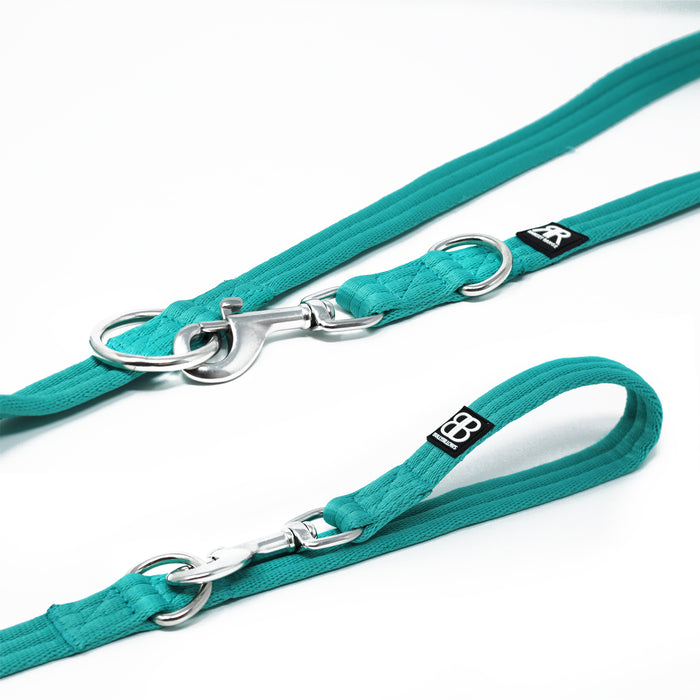 Double Ended Dog Training Lead - Turquoise
