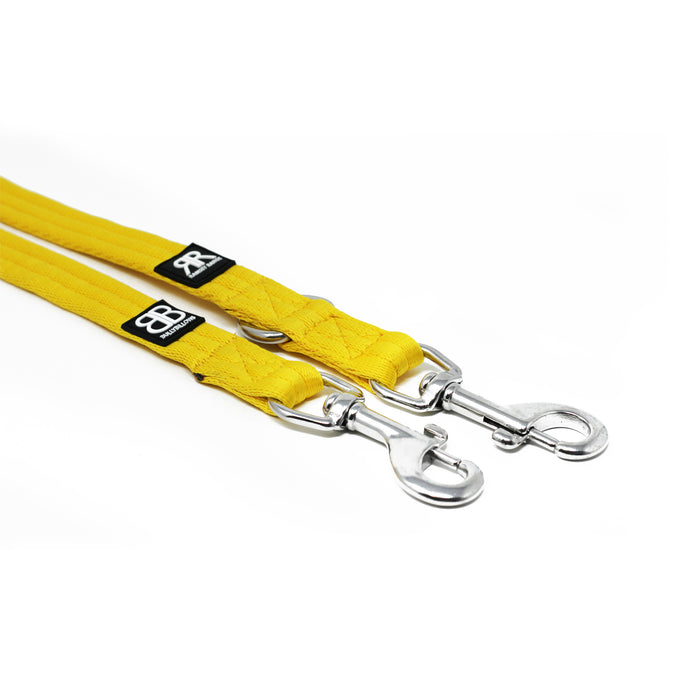 Double Ended Dog Training Lead - Mustard Yellow