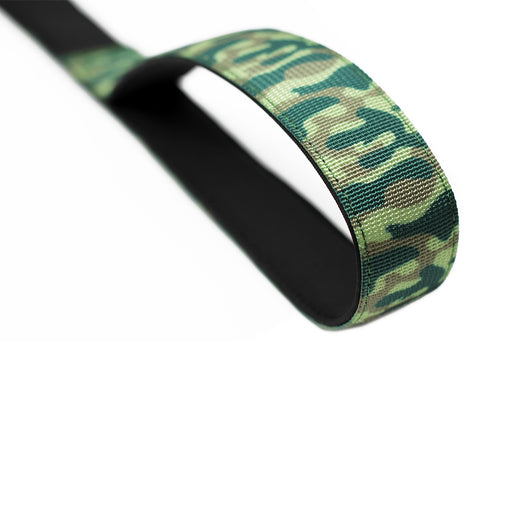 Nylon Snap Hook Lead - Green Camo