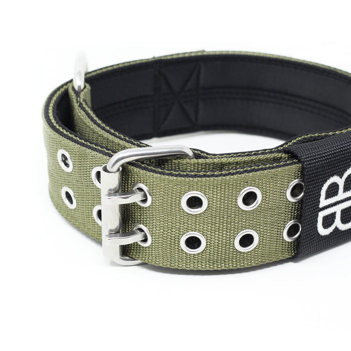 5cm Sporting Dog Collar - WITH HANDLE - Khaki
