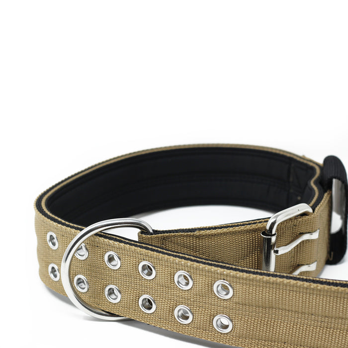 5cm Sporting Dog Collar - WITH HANDLE - Military Tan