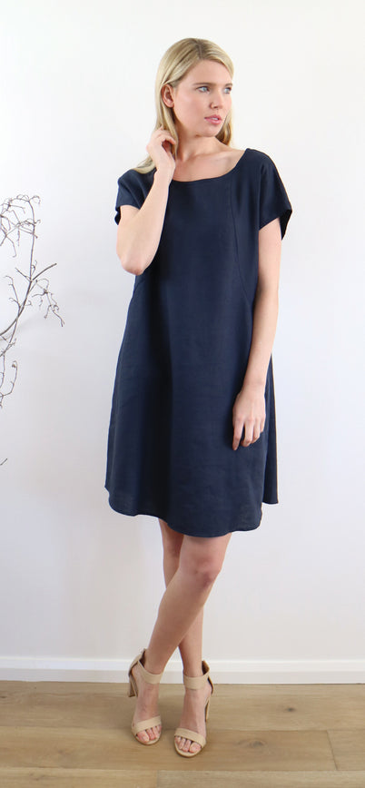 NATSUKO DRESS ink navy MEDIUM HAS SOLD OUT!