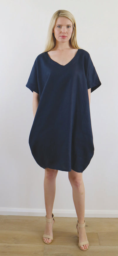 AKIKO DRESS ink navy HURRY 2 SMALLS LEFT!