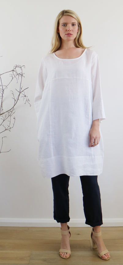 HAILEY DRESS white