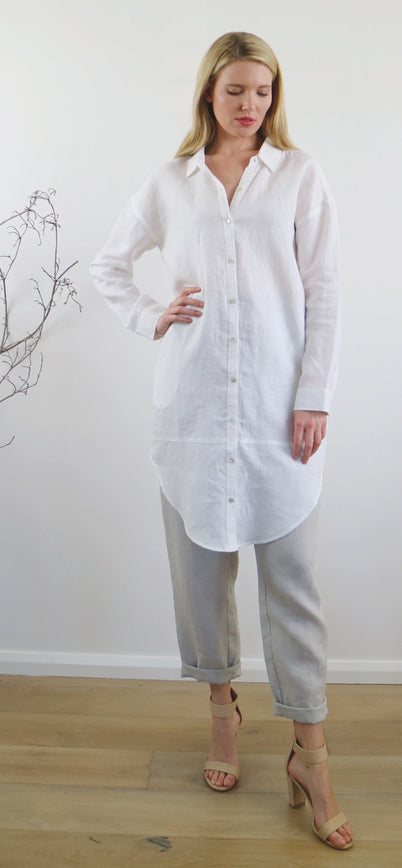 LILY SHIRT DRESS white