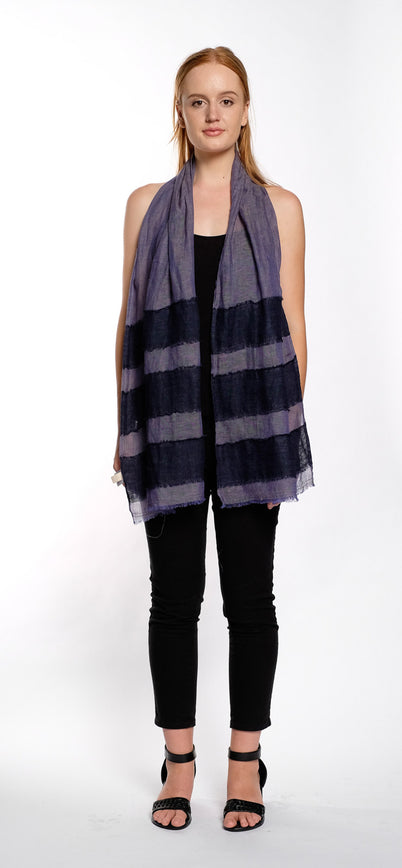 SCARF STRIPE blue / navy