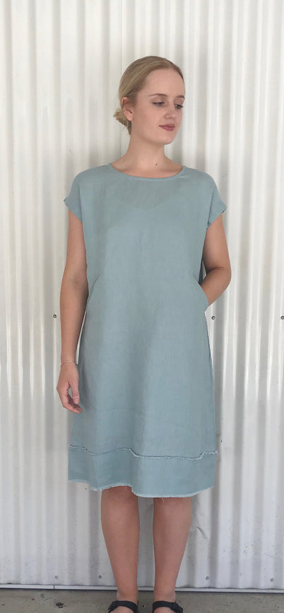 Natsuko Dress duck egg - Small & Medium SOLD OUT!