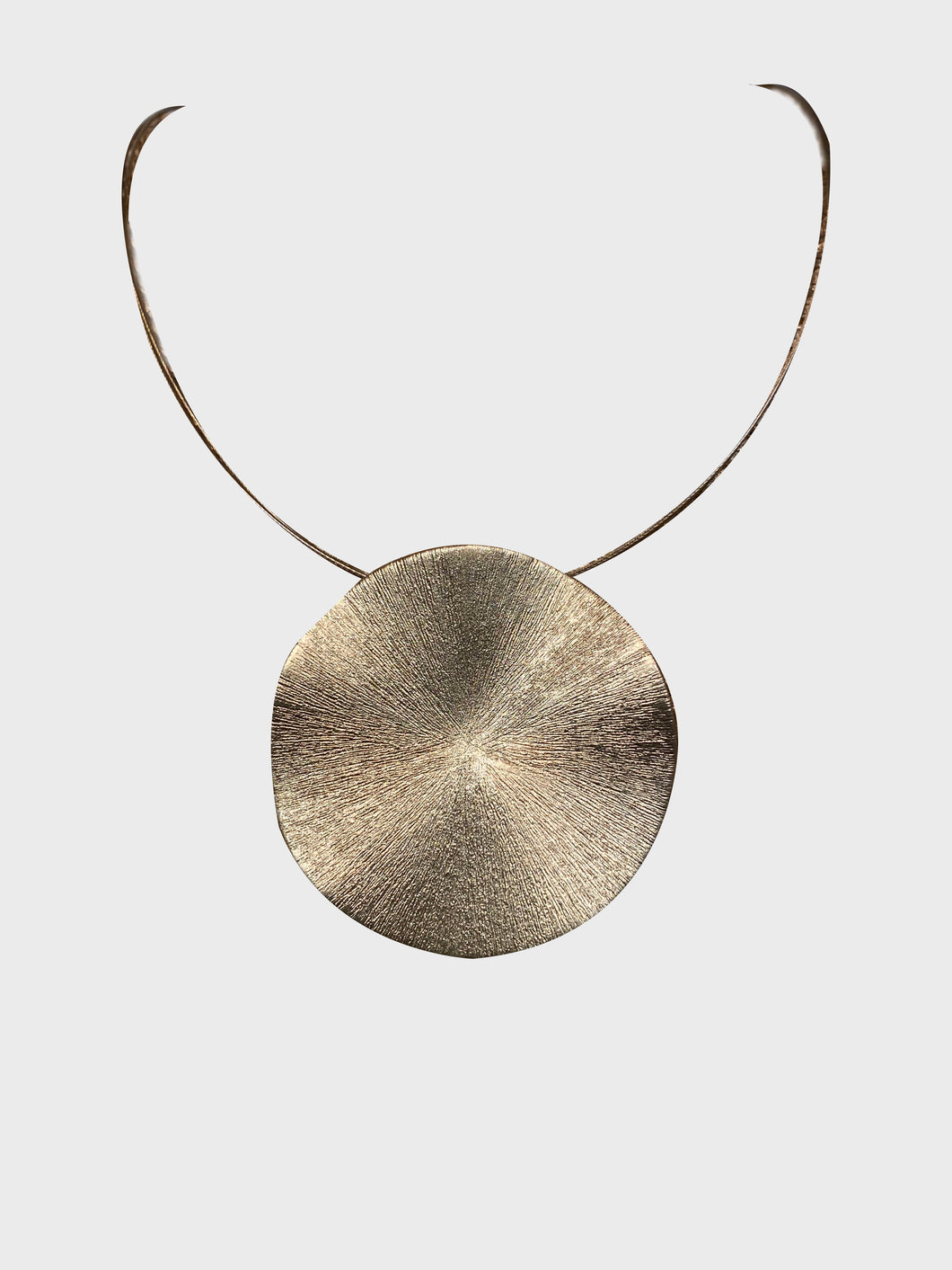 Metallic Circle Necklace - Pooja Boutique