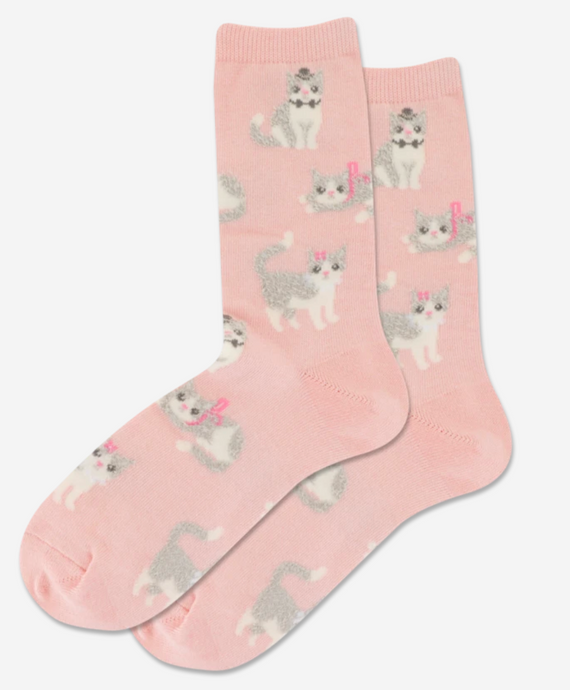 Fuzzy Cat Socks Blush - Pooja Boutique