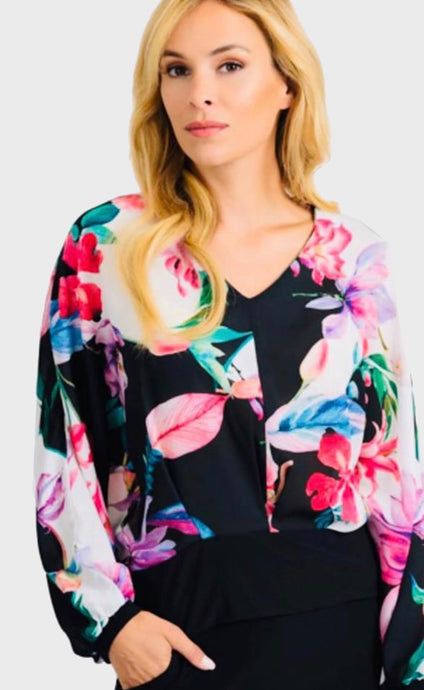 Floral Long Sleeve Top - Pooja Boutique
