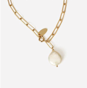 Pearl Charm Necklace - Pooja Boutique