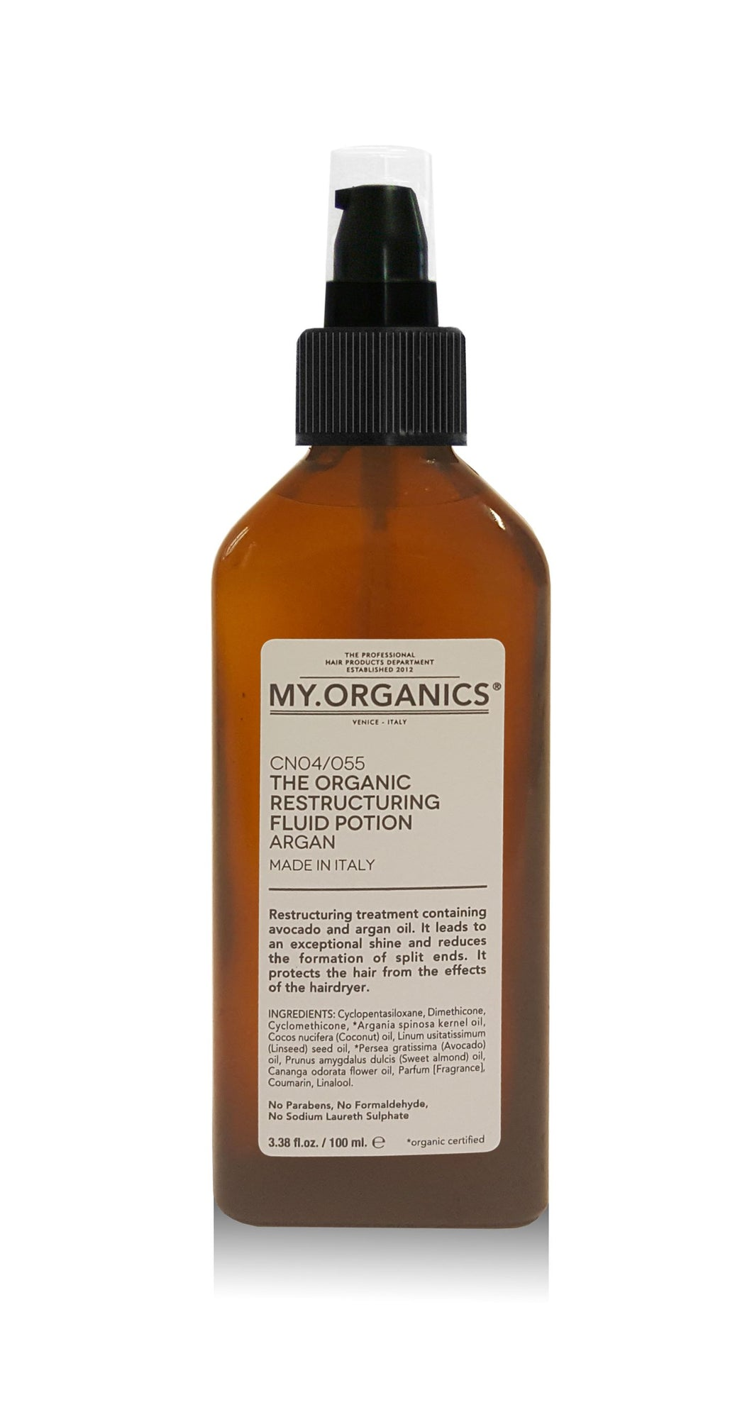 MY ORGANIC RESTRUCTURING FLUID POTION 100ML