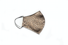 Load image into Gallery viewer, Cheetah Satin Face Mask
