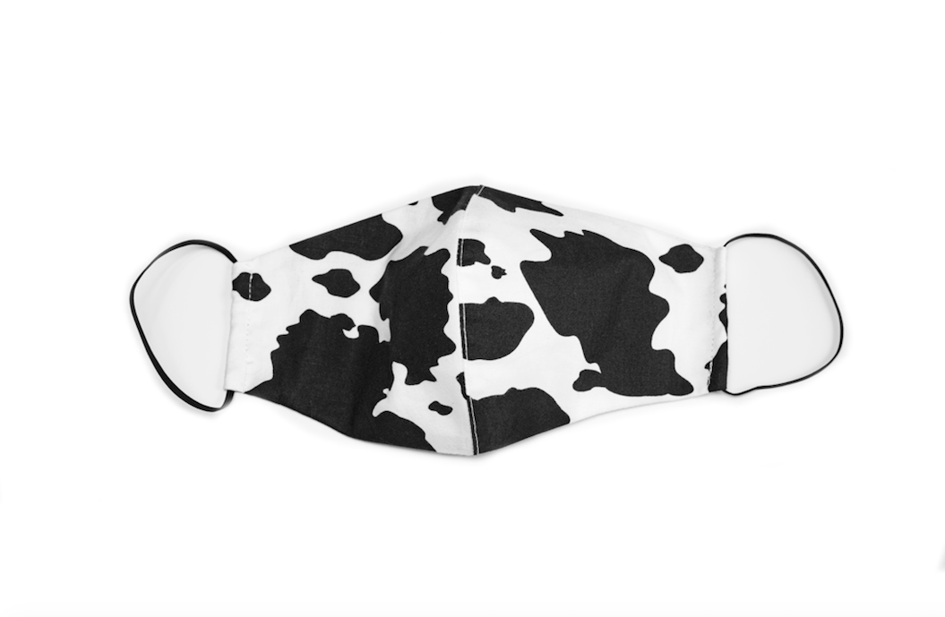 Cow Print Face Mask