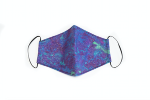 Purple & Blue Glitter Tie-Dye Face Mask