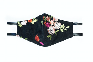 Floral Embroidered Lace Face Mask