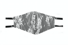 Load image into Gallery viewer, Black French Chantilly Lace Face Mask