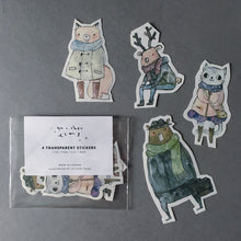 Load image into Gallery viewer, Woodland Animal Transparent Stickers