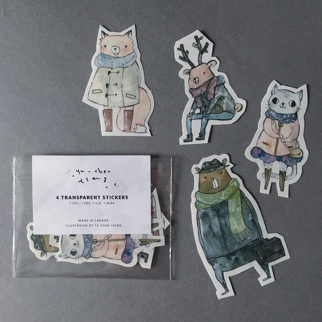 Woodland Animal Transparent Stickers