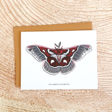 Load image into Gallery viewer, Columbia Silkmoth - greeting card