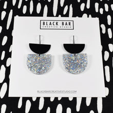 Load image into Gallery viewer, HALF DISC DUO D SHAPE EARRINGS - Available in various colors