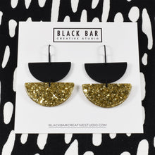 Load image into Gallery viewer, HALF DISC DUO EARRINGS - Available in various colors
