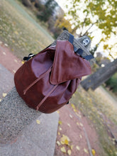 Load image into Gallery viewer, Leather Drawstring Backpack