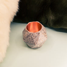 Load image into Gallery viewer, Terrazzo Facets Concrete Candle Holder