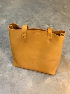 Leather Tote Bag made with Horween Ball glove leather