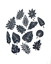 Load image into Gallery viewer, Tropical Linocut Print