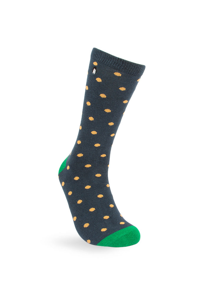 Orange Polka Dot Men's Socks