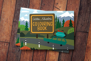 Rocky Mountain Colouring book