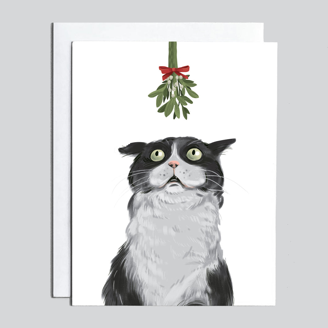 Christmas Card - Mewstletoe