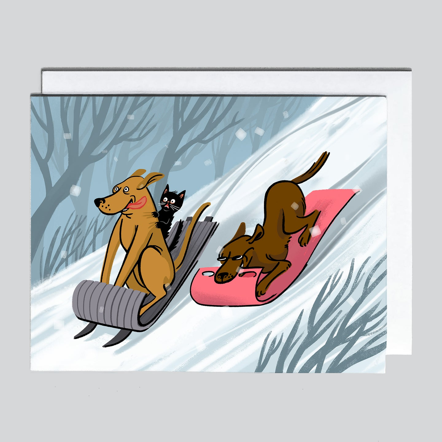 Christmas Card - Sledding