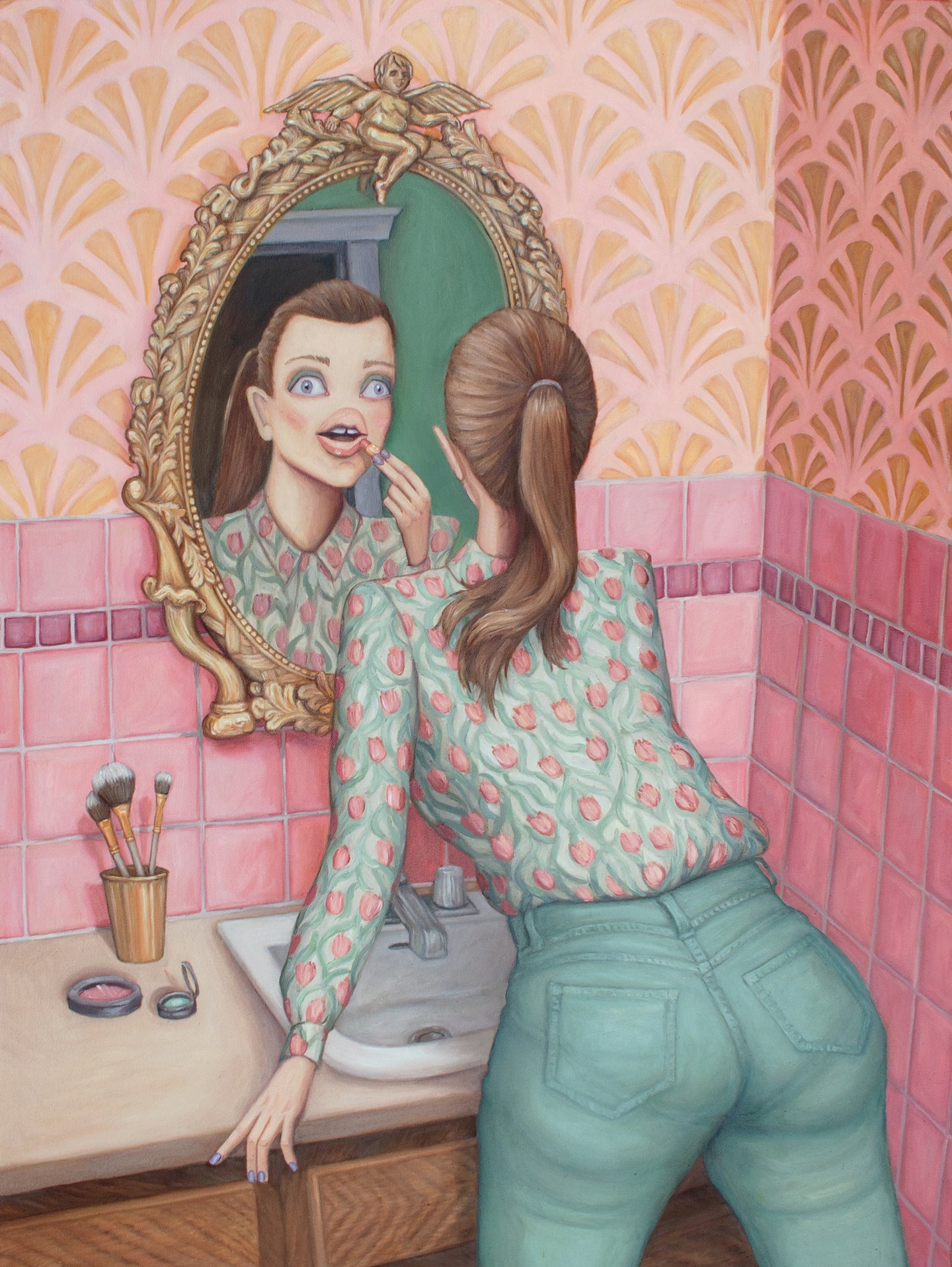 Toilet Venus - Original Oil Painting
