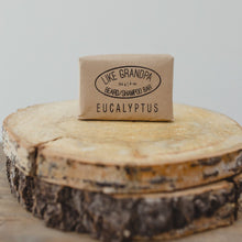 Load image into Gallery viewer, Eucalyptus, all-natural Shampoo Bar. For women or mens hair and beard.