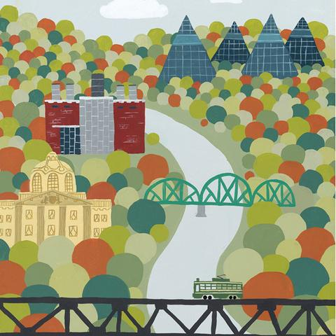 Edmonton - River Valley Art Print