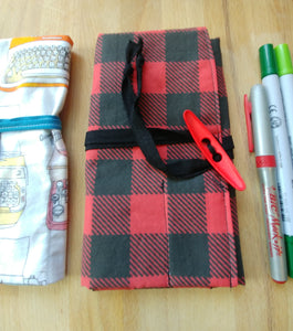 Grown-up pencil roll - assorted prints