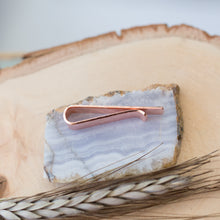 Load image into Gallery viewer, Handmade Rustic Hammered Copper Tie Bar