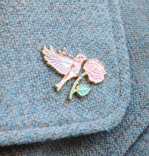 Load image into Gallery viewer, Finch and Rose - Enamel Lapel Pin