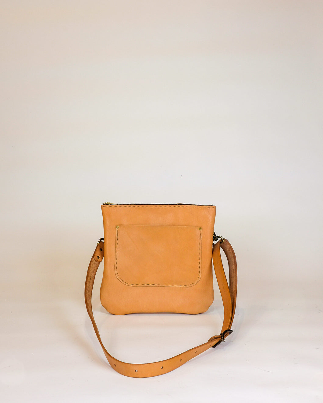 Leather Crossbody Purse made with Horween Natural Essex