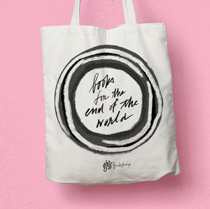 Books for the End of the World tote bag