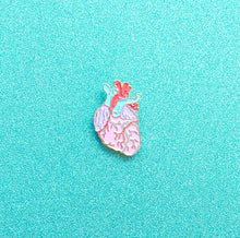 Load image into Gallery viewer, Pastel Heart - Anatomical Heart Enamel Lapel Pin