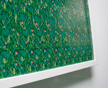 Load image into Gallery viewer, Hidden Image - Get Lost Tropical Leaf Pattern - Optical Illusion Stereogram Poster