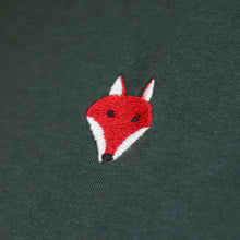 Load image into Gallery viewer, Embroidered Fox Tee - Forest